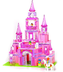 play fairy princess pink castle build
