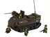 sluban amphibious tank piece building block