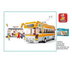 sluban trolley piece lego compatible