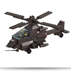 Apache Helicopter 158 Pieces Building