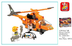 sluban rescue team copter pieces lego