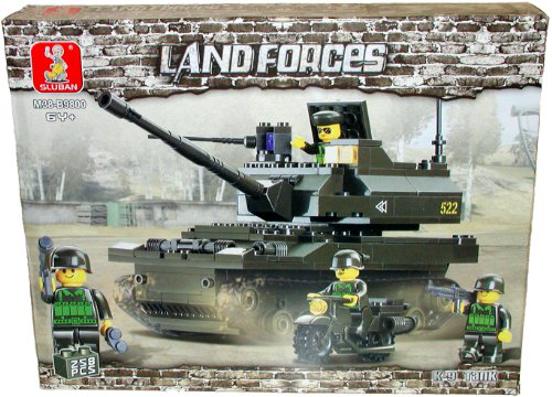 Land Forces K9 Tank 258 Piece Building