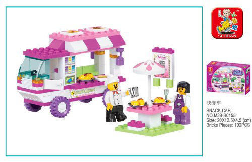 Girls Dream Snack Car 102 Piece Set