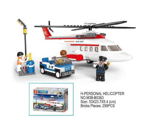 Sluban Aviation H-personal Helicopter 259 Pieces Set Lego Compatible